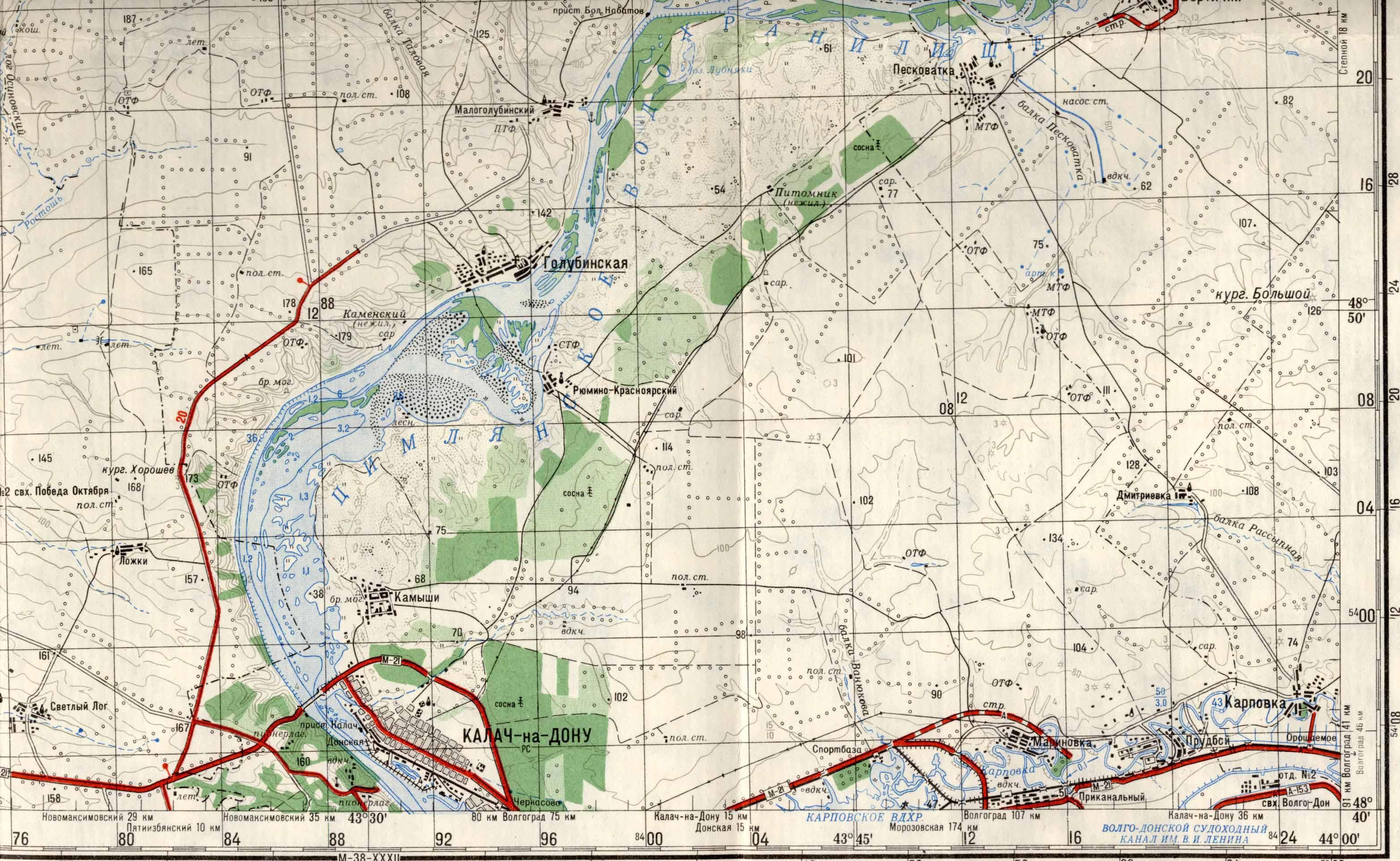 карта рыболовных мест в ростове на дону