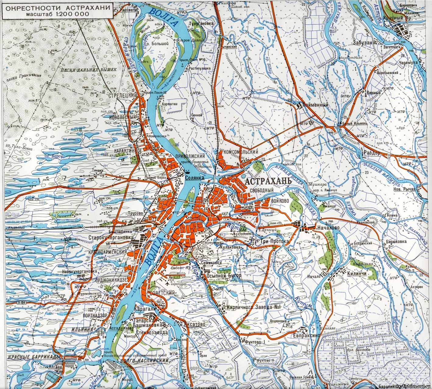карта рыбака астраханской области
