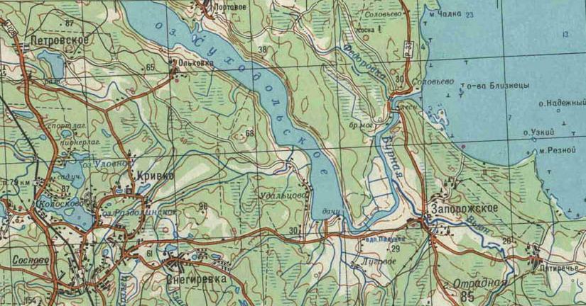 Карты реки Бурная (Вуокса