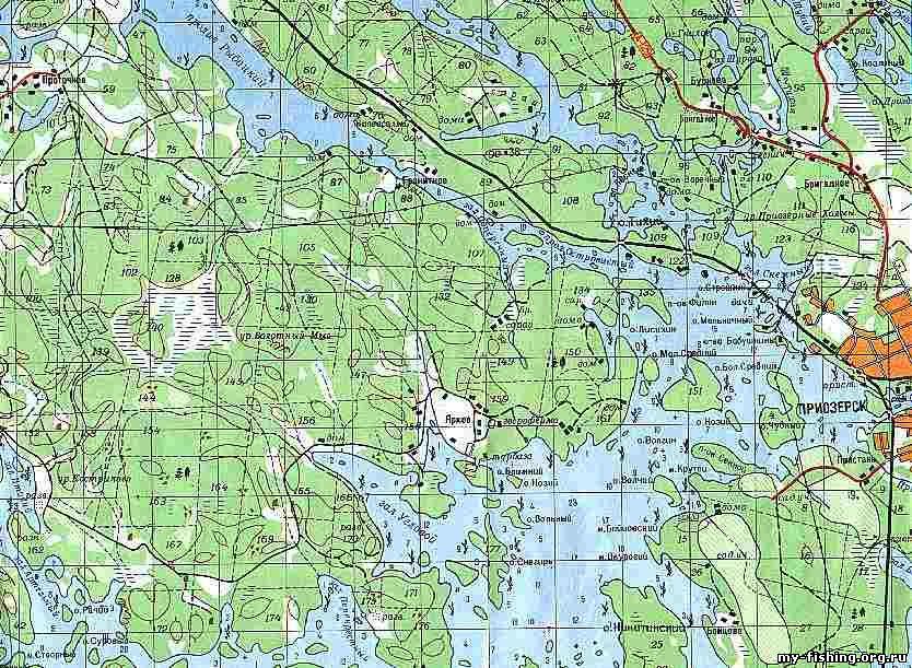 Карты озера ильмень